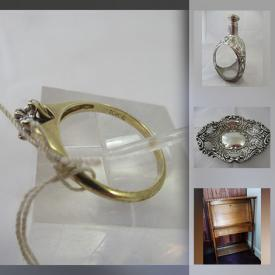 MaxSold Auction: This online auction features Decorative Plates, Royal Doulton Figurines, Hummel Figurines, Waterford Chrystal, Pearl Necklace, Doll Clothes 10kt Gold Ring, Collectible Teacups, Silver Pendants & Chains, Carved Wooden Toys, Silk Scarves, Vintage Oriental-style Porcelain, Vintage Pyrex, Vintage Meerschaum Pipe, Vintage Musical Instruments and much more!