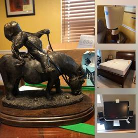 MaxSold Auction: This online auction features furniture such as bookcases, nightstand, antique tickets cabinet, bed frame, sofa bed and more, vintage belt buckles, Chinese flute, Acer notepad, pots and pans, small kitchen appliances, chest freezer, coins, CDs, vacuums, Olympia typewriter, electronics, books, golf items, gardening tools and much more!