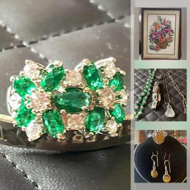 MaxSold Auction: This online auction features 925 Jewelry, New Fashion Jewelry, Vintage Jewelry, Balance Beam, Power Tool, Teacher Resource Books, Scrapbooking Supplies, Milk Glass, Exercise Equipment, and much more!