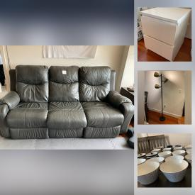 MaxSold Auction: This online auction features furniture such as an Ashley couch, Ikea drawers, bar stools and more, coat rack, decorative trees, Brookstone foot massagers, organizers, Stepper, dishware, kitchenware, plastic drawers, Epson printer and much more!