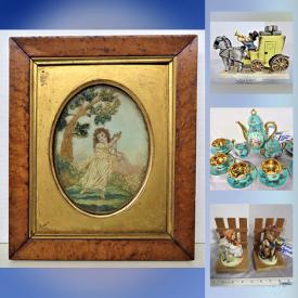 MaxSold Auction: This online auction features rare Vintage GOEBEL MJ HUMMEL Figurines, early 1900's England Needlework & Watercolor Framed Art, signed A. Veccio, Adolf Treidler Bermuda ART, Stellar 2X Binoculars, 8-track Turntable Stereo, Demitasse Expresso, Fenton, Nippon, Imperial, Corning cookware, Wedgwood Bell, Windsor & White Oak Chairs, PS3 Games, Books, B&D Hedge trimmer, Tool / Hardware and much more.