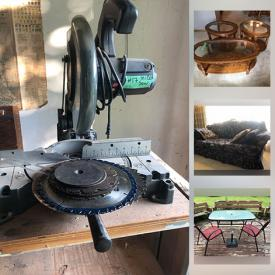MaxSold Auction: This online auction features Vintage Solid wood Furniture, Sofas, Chairs, Outdoor Patio furniture, Workshop Power Tools & Equipment, Hand Tools & Hardware, vacuum cleaner, Brass beds, Sewing machine, and much more!