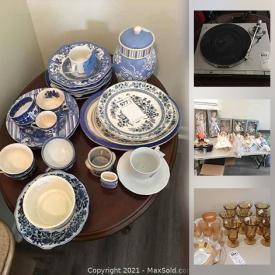 MaxSold Auction: This online auction features Blue & White Items, Decorative Plates, Carnival Glass, Vintage Kitchenware, Small Kitchen Appliances, Toys & Games, Pet Supplies, Drapes, Dolls, Roseville Pottery and much more!