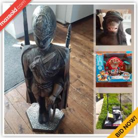 MaxSold Auction: This online auction features Toys, NIP NFL Bobbleheads, Hunting Gear, Snow Blower, NIP Action Figures, Comics, Safety Gear, Kids Wooden Puzzles and much more!