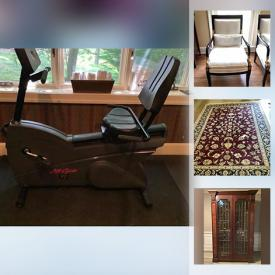 MaxSold Auction: This online auction features Area Rugs, Outdoor Rockers, Executive Desk, Wine Cooler, Exercise Bike, Small Appliances, Wicker Furniture, Outdoor Furniture and much more!