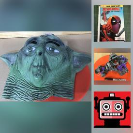 MaxSold Auction: This online auction features Antique Gramophone, NIP Action Figures, Comics, Star Wars Collectibles, Antique Doll & Toys, Gaming Figures, Cards & Dice, Star Trek Collectibles, Retro Art Prints, Vintage Books, Peggy Nisbet Dolls and much more!