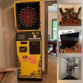 MaxSold Auction: This online auction features La-Z-Boy Recliner, Mossant Print, TV, Refrigerator, Area Rugs, Exercise Equipment, Poker/Bumper Pool Table, Electronic Dart Game, Pub Table & Chairs, Davenport, Vintage Furniture, Yard Blower and much more!