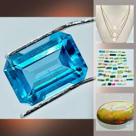 MaxSold Auction: This online auction features Loose Gemstones such as Blue Topaz, Tourmaline Crystals, Amethyst, Orange Sapphire, Opal, Tigers Eyes, and Jewelry such as Pearl & Chain Necklaces and much more!