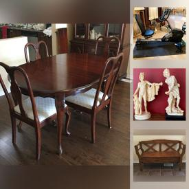 MaxSold Auction: This online auction features Crystal, Art Glass, Cranberry Glass, Bistro Set, Hall Bench, Catherine Karnes Munn Collectibles, Art Pottery, Collector Spoons, Vintage German Coo Coo Clock, Collector Plates, Bosson Heads, Sewing Machine, German 3D Tables and much more!