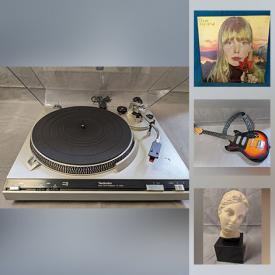 MaxSold Auction: This online auction features vinyl records, vintage electronics, stereos, musical instruments, Indigenous art, vintage band t-shirts, MCM collectibles, art glass and much more!