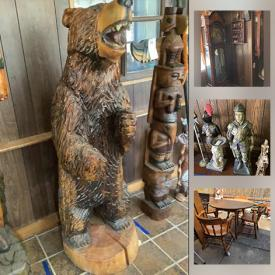 MaxSold Auction: This online auction features Lawn & Garden Animals, sculptures, decor, fountains, birdbaths, Hundreds of collector's plates, and beer steins, Solid wood Furniture, Wooden ships, Electronics, Stereo Equipment & Components, TVs, Homecare & Cleaning supplies, Yard & Garden Grooming tools & Supplies, Bear themed figures and collectibles, Dry bar, Hand Tools & Hardware, John Wayne & other Pop Culture character collectibles, Mid-Century Glassware, Dinnerware & Kitchen sundries, Toby Mugs, Grandfather clocks and much more!