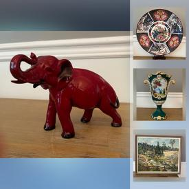 MaxSold Auction: This online auction features Royal Doulton figurines, Alco Baca vase, Signed Original Artwork, Delft, Staffordshire, Antique Artisan Pottery and Ceramics, Porcelain animals, Fitz & Floyd, Freemasonry books, Antique paintings, Limoges, Jewelry and much more!