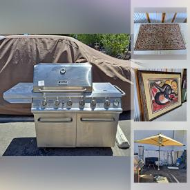 MaxSold Auction: This online auction features BBQ Grill, NIB Sun Umbrella, Garden Art, Fire Pit, Patio Heater, Metal Art, MMA Training Gear, Vintage Posters, Area Rugs, Wood Cigar Boxes, Toys, Workout Equipment and much more!