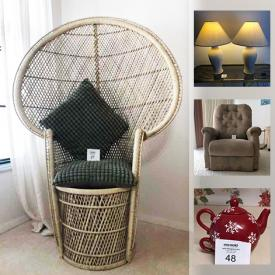MaxSold Auction: This online auction features Dining Room Furniture, Bedroom Furniture, Lift Chair Recliner, Leather Furniture, Small Kitchen Appliances, Dishware and much more!