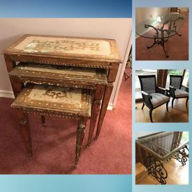 MaxSold Auction: This online auction features Signed Original Art & numbered Prints, Solid wood Furniture, Rugs, Lamps, Artisan Pottery and Ceramics, Waterford Crystal, Armoire, Sofas, Recliners, Loveseats, TVs, Beds, Clocks, Home electronics, Shelving units and much more!