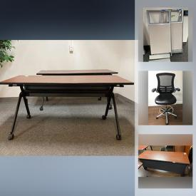 MaxSold Auction: This online auction features furniture such as adjustable office chairs, rolling desks, large desks, metal conference desks, cubicle panels, file cabinets, folding chairs, teaching materials and much more!