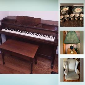 MaxSold Auction: This online auction features Lead Crystal Eagle, Decorative Plates, Coca Cola Collectibles, Upright Grand Piano, Heart Country Shelf, Antique Brass Candle Holder, TV, Kurzweil Keyboard, Apartment Sized Piano, Toys, Hanging Quilt, Irish Books, Vintage Books, Bibles, Collectible Teacups and much more!