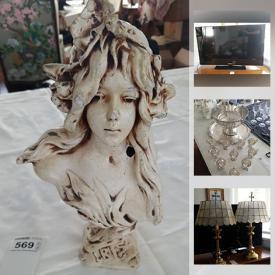 MaxSold Auction: This online auction features collectible china such as Royal Albert, Shelley, Limoges, collectible ceramics such as Lladro, Denton, Radnor, Crown Staffs, Coalport, Giuseppe Armani, Hummel, Royal Worcester, and Goebel, decor such as framed wall art, lamps, Waterford crystal, blue glass, wall mirrors, and area rugs, electronics such as Samsung TV, sterling silver flatware, furniture such as Small & Boyes armchairs and much more!