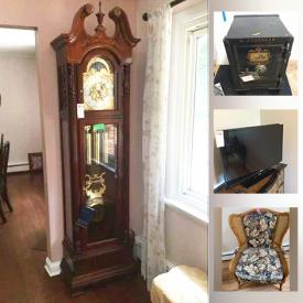 MaxSold Auction: This online auction features TVs, Ethan Allen Furniture, Disney Mugs, Wooden Farmhouse Table, Howard Miller Grandfather Clock, Bistro Table & Chairs, Ethan Allen Dry Bar, Patio Furniture, BBQ Grill, Hand Tools, Sports Equipment, Small Kitchen Appliances and much more!