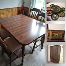 MaxSold Auction: This online auction features Solid wood Furniture, Bedroom set, Dining room set, Vintage lamps,. Mirrors, Artisan Pottery and Ceramics, Laura Gates bowls, Small Kitchen Appliances, Food prep, & gadgets, Cameras, Office Furniture, Equipment & supplies and much more!