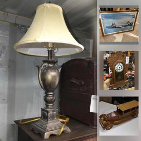 MaxSold Auction: This online auction features Coins, Yard Tool, Comics, Sterling, Banknotes, Antique Books, Mission Grandfather Clock, Antique violin, Gingerbread clock, Golf Clubs, Small Kitchen Appliances, Vintage Dolls, Wade Animals, Antique Tools, Collector Plates, Vintage Bottles and much more!