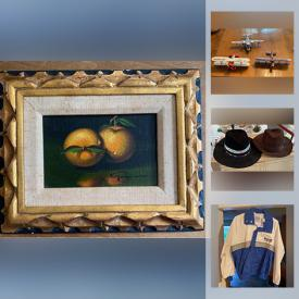 MaxSold Auction: This online auction features signed Art, collectibles, vintage, Chinaware, Sporting Goods, decor and much more.