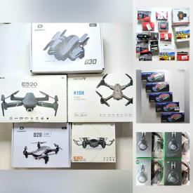 MaxSold Auction: This online auction features New in Open Box Items such as Robot Vacuums, Massagers, Gaming Gear, Smart Finder, Drones, Video Doorbells, Mini Cameras, Solar Lights, Smart Watches, Security Cameras, Pet Grooming and much more!