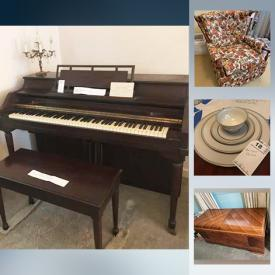 MaxSold Auction: This online auction features Vintage Bunting Chaise Lounge, Flags, Patio Furniture, Hummels, Upright Piano, Lane Cedar Chest, Stamps, Ship Plaques, Coins, Patches and much more!
