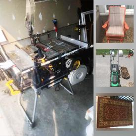 MaxSold Auction: This online auction features Table Saw, Lawnmowers, Power Tools, Gazebo, TVs, Small Kitchen Appliances, Area Rugs, Patio Set, Electric Fireplace and much more!