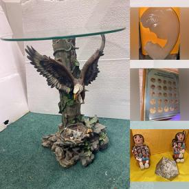 MaxSold Auction: This online auction features Jewelry, Purses, Super Bowl Hats, Stone figures, Metal Signs, Shoes, Kitchenware, Lighting, Sterling Silver Rings, Crystal, Christmas, Halloween, Franklin Mint Coins and much more.