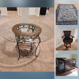 MaxSold Auction: This online auction features Cerwen Vega Stereo Equipment & Components, Tower MTX speakers, Wine Fridge, Barroom cabinet, Antique & Vintage Solid Wood Furniture, Area rugs, Leather furniture, Mirrors, Buffet, Chandelier and much more!