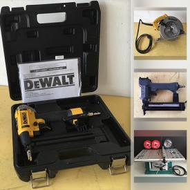 MaxSold Auction: This online auction features Workshop Power Tools & Equipment, Hand Tools & Hardware, Laser levels, Bench grinder, Tile saw, Vintage woodworking supplies, Fishing & camping, Sewing machine, Lighting fixture, CDs, DVDs, Yard & Garden Grooming tools & Supplies and much more!