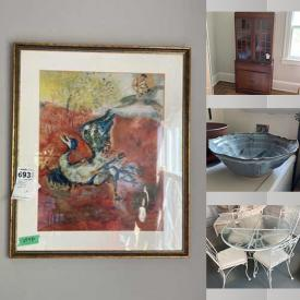 MaxSold Auction: This online auction features vintage toys, Lionel trains, silver plate, furniture such as leather lounger, Drexel entertainment armoire, cabinets, wicker swing, and dining table set with chairs, vintage rocking horse, ceramics, area rugs, Nordic Track Pro, Sunbeam lawn mower, framed wall art, HP printer, Brother printer, vintage photography equipment, office supplies, clothing, Fisher audio system, power tools, vinyl 45s, board games, CDs, small kitchen appliances, children's toys and much more!