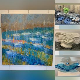 MaxSold Auction: This online auction features Art Glass, MCM Lighting, MCM Wrought Iron Table, Vintage HAEGER Sculpture, Original Paintings, Art Pottery, Vintage Susan Paley Vases, Antique French Figural, Vintage Pyrex, Vintage Jewellery, Vintage Chinoiserie Chalkware and much more!