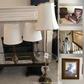 MaxSold Auction: This online auction features Windberg Prints, Swivel / Rocking Chairs, French Provincial Style Furniture, TV, Washer & Dryer, Wrought Iron Patio Set, Small Kitchen Appliances, Acorn Stairlifts Chair and much more!