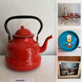 MaxSold Auction: This online auction features MCM Kitchenware, Vintage Pyrex, Crystal Decanter, Art Pottery, Milk Glass, Antique Toy Pram and much more!