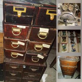 MaxSold Auction: This online auction features Wood Storage Boxes, Antique Radios, Collector Plates, Wedgwood, Vintage Medical Equipment, Signed Artwork, Antique Dresser and much more!