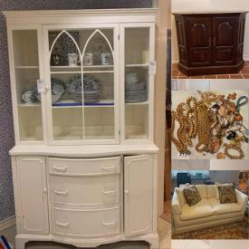 """MaxSold Auction: This online auction features  NIB InstantPot, Wedgwood, Waterford crystal, Duncan Royal, Barbie, Madame Alexander, collector plates, snow globes, fine china, GE refrigerator, Kenmore washer, Maytag, furniture such as oak cabinet, side tables, loveseat, coffee table, mahogany hutch, Drexel Heritage dining table and chairs, Schwinn bike, costume jewelry, framed wall art, electric guitar, 31"""" Magnavox TV, JVC stereo, home decor, kitchenware, small kitchen appliances, area rugs, framed wall art, glassware, garden tools, collector Christmas ornaments, exercise equipment and much more!"""
