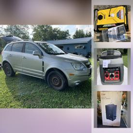 MaxSold Auction: This online auction features 2008 Saturn Vue, Generators, Hockey Collectibles, Gazebo Canopy, Coin, Water Cooler, Sports Equipment, Recliners, Stackable Washer & Dryer, TV, Electric Digital Smoker and much more!