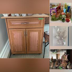 MaxSold Auction: This online auction features furniture such as cabinets, dining table, chairs, desk, and hutch, electronics such as LG computer tower and Hitachi TV, collectible china such as Wedgwood, Shelley, Royal Staffordshire, Burgess & Leigh, Queen Anne, Roslyn China, Royal Winton, Noritake, and Chugai China, décor such as framed art, signed art, and framed prints, lamps, figurines, and uranium glass and much more!