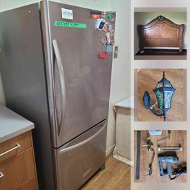 MaxSold Auction: This online auction features Small Kitchen Appliances, Power Tools, Pet Supplies, Art Supplies, Backsplash Tiles, Iron & Glass Tables, Stainless Steel Fridge & Stove, Ikea Wardrobes, Lawnmower, Patio Furniture, Bikes, Iron Bed Frame and much more!