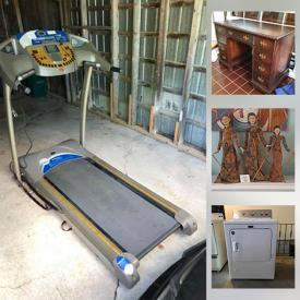 MaxSold Auction: This online auction features MCM Teak Table & Chairs, Dyson Vacuum, Skybar Wine System, Treadmill, Dryer, Stove, Vaseline Glass, Indonesian Puppets, Stickley Rocking Chair, Vintage Pyrex, MCM Russel Wright Dishes, Vintage Skis Cast Iron Bank and much more!