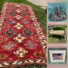 MaxSold Auction: This online auction features Vintage Wool Carpets, Vintage Original Oil Paintings, Jewelry, Loose Gemstones, Art Pottery, Vintage Pyrex, Vintage Framed Signed Photos, Vintage Moorcroft, Comics, Toby Jug, Stamps and much more!