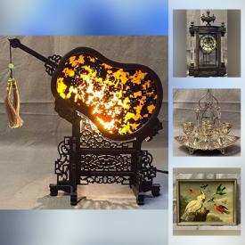 MaxSold Auction: This online auction features a Chinese Double-Sided Fan, Framed Lithograph, 1930s Antique TESLA PLASMA GLOBE Machine, Jade sculptures and jewelry, Ansonia Early 20th Century Solid Brass Mantle Clock, Framed John Paul II Signed Photo Print, MCM Herman Miller Chair, Kosta Boda, Lladro, Paragon and Aynsley teacups, Asian lidded ginger jar, silverplated footed egg cups on tray and much more!