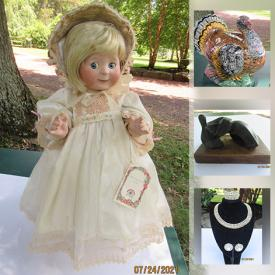 MaxSold Auction: This online auction features Sterling Silver Jewelry, Costume Jewelry, Collectible Dolls, Antique Bronze Figurines, Silk Scarves, Watches, Vintage Koma Clock, Vintage Dressers and much more!