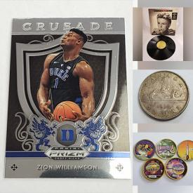 MaxSold Auction: This online auction features LPs, Autographed Poster Lithograph, Backstage Passes, Vintage Sports Cards, Coins, Sterling Silver Jewelry, Vintage Lighter, Vintage Toys, Comics, Stamps and much more!