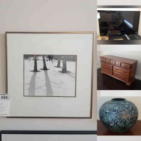 MaxSold Auction: This online auction features NIB Lagostina Cookware, TV, Bergere Chairs, Original Art, Art Framing Supplies, Office Supplies, Antique Pearwood Bench, Portable AC Unit, Small Kitchen Appliances, Waterford Crystal, Wood Carvings, Dyson Vacuum, Dyson Tower Fan and much more!