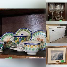 MaxSold Auction: This online auction features Ming Style Chair, Chest Freezer, Portable Washing Machine, Cast Iron Gem Pan, Garden Decorations, Unique Folk Art, Australian Vases, Elephant Collections, Flood's Mill Art and much more!