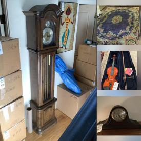 MaxSold Auction: This online auction features Ikea Display Cabinets, Standing Mirror, Area Rugs, Modular Furniture, Office Supplies, Grandfather Clock, Mirrored Vanity, Flatware Armoire, Yarn, Sub Zero Refrigerator, Wine Refrigerators, Violin, Art Glass, Balalaika, Roark Gourley 3D Artwork and much more!