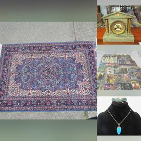 MaxSold Auction: This online auction features Area rugs, Mantel Clocks, Asian Decor, Art, Electronics, Lamps, Costume Jewelry, Coins, Singer Sewing Machine, Vintage Kitchen, Vintage Toys, Star Wars Trading Cards and much more.